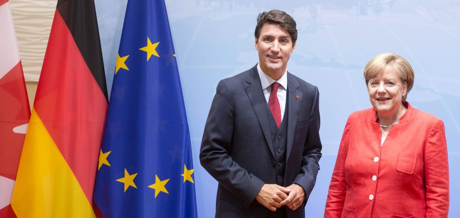 Prime Minister Trudeau and Chancellor Merkel