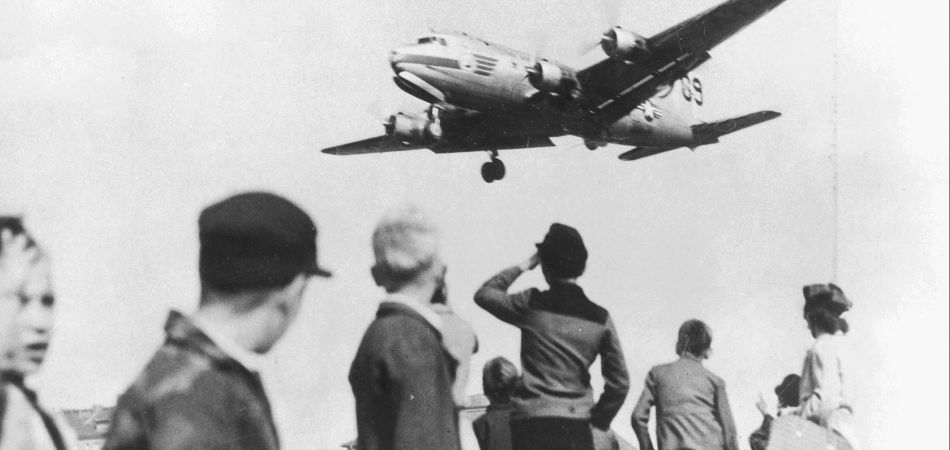 "70th anniversary of the Berlin Airlift: an eagerly awaited ""raisin bomber"" over Berlin in 1948."