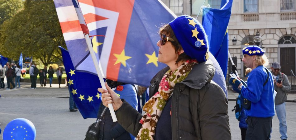 Opponents of Brexit protest against EU withdrawal.