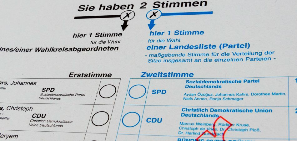 2017 Bundestag elections: each voter has two votes