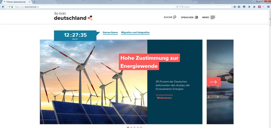 Deutschland.de Website