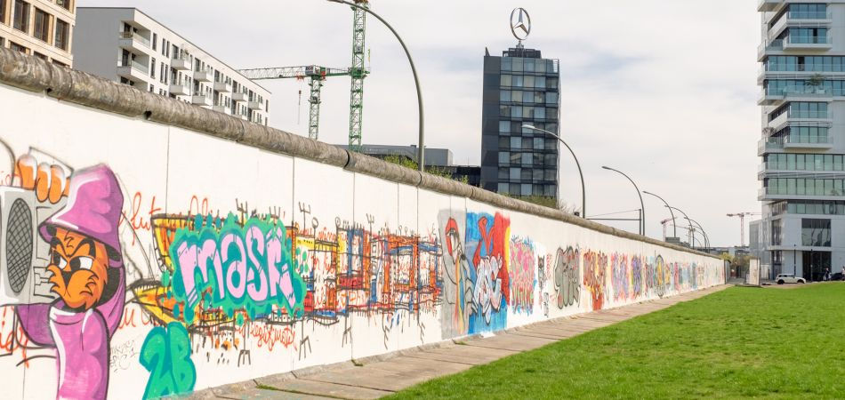 The East Side Gallery at the Berlin Wall