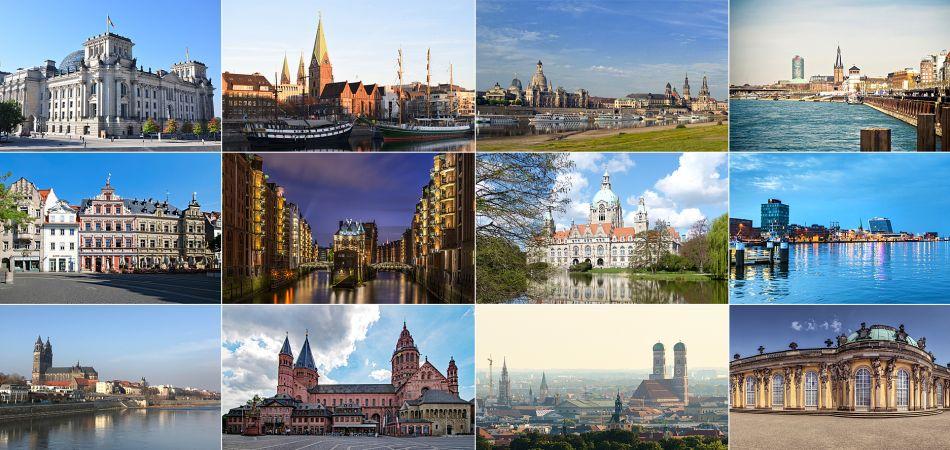 Capitales régionales de l'Allemagne