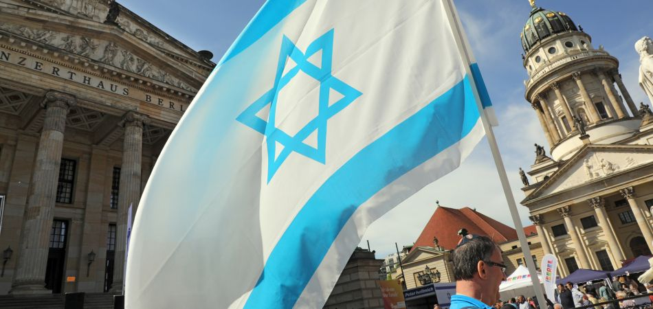 Celebration marking the 70th anniversary of Israel's independence in Berlin.