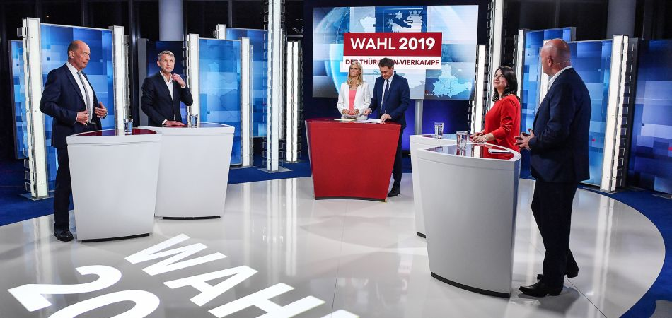 TV debate before the election in Thuringia