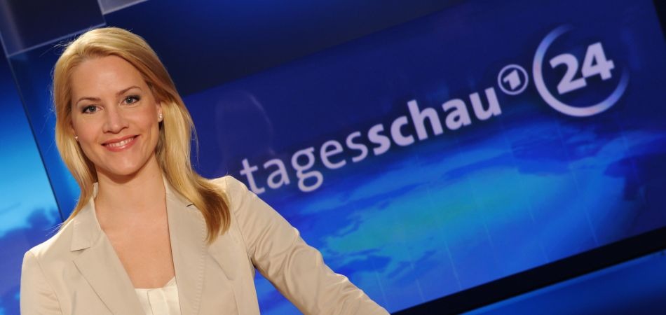 Judith Rakers has been a Tagesschau newsreader since 2005.
