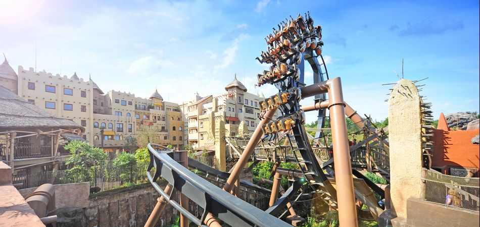 """Black Mamba"" rollercoaster in Phantasialand"