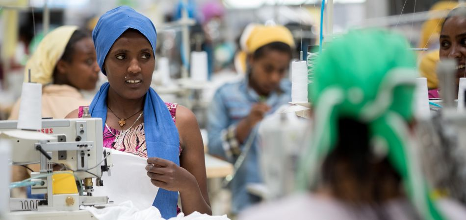 Good working conditions: a modern textiles factory in Addis Ababa