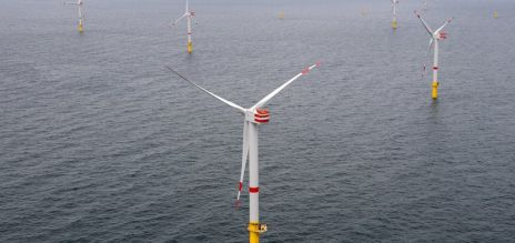 New wind turbines at sea