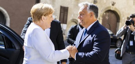 Merkel visits Hungary