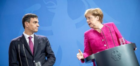 Merkel besucht Sánchez