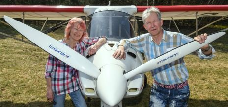 At 78, German woman is still flying
