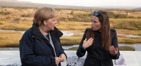Merkel zu Besuch in Island