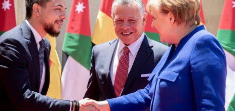 Merkel in Jordanien