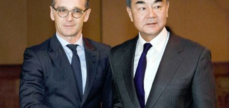 China's foreign minister in Germany