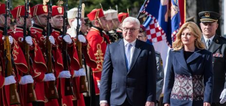 German president in Croatia