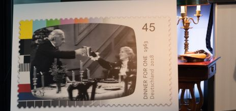 'Dinner for One' postage stamp