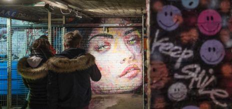 Temporäre Streetart in Berlin