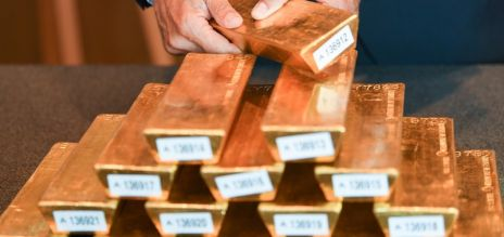Bundesbank displays bars of gold