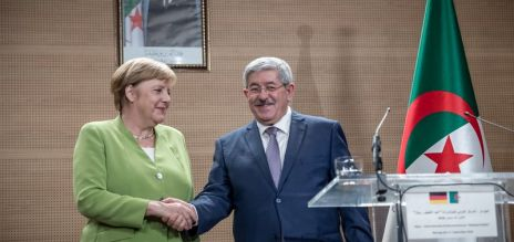 Merkel visits Algeria