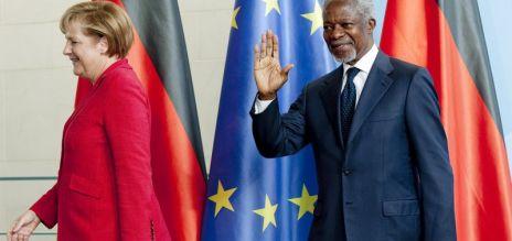 Merkel pays tribute to Kofi Annan