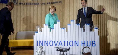 Merkel besucht Innovationshochburg