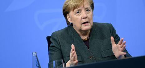 Angela Merkel bei den  Bund-Länder-Beratungen