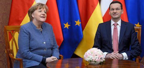 Partnerschaft: Angela Merkel zu Gast bei Polens Präsidenten Mateusz Morawiecki