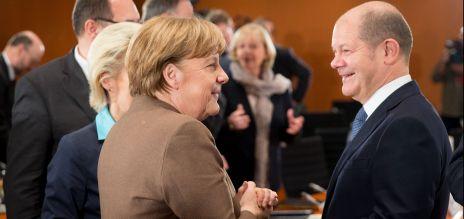 Angela Merkel, Olaf Scholz