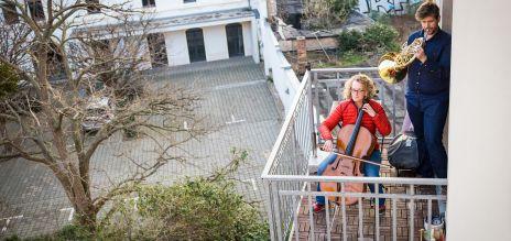 Balkonkunst über Ostern