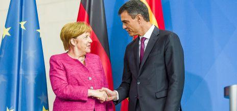Merkel berät mit Spaniens Premier Sánchez