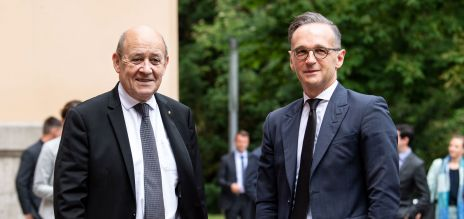 The foreign ministers of Germany and France, Heiko Maas and Jean-Yves Le Drian