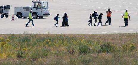 Flüchtlinge gelandet