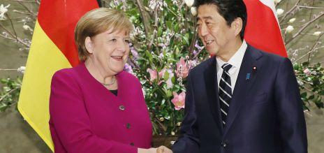 Angela Merkel und Shinzo Abe