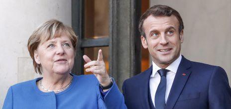 Angela Merkel und Emmanuel Macron auf dem Gipfeltreffen