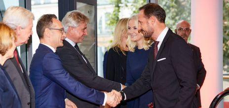 Heiko Maas mit Mette-Marit und Haakon von Norwegen