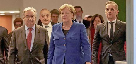Guterres, Merkel, Maas