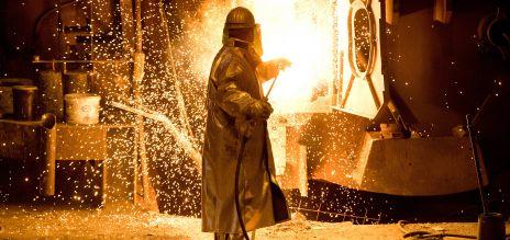 Stahlproduktion bei der deutschen Salzgitter AG