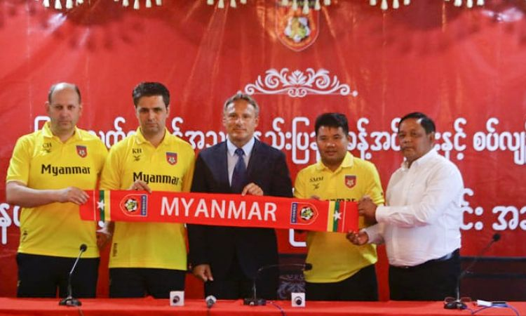 Antoine Hey: the former professional player in Germany's Bundesliga has been trainer of Myanmar's national football team since May 2018