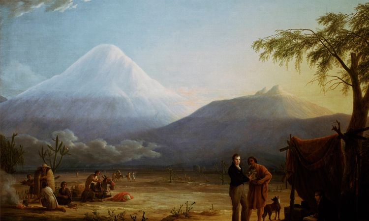 Humboldt and Bonpland at the foot of the Chimborazo volcano