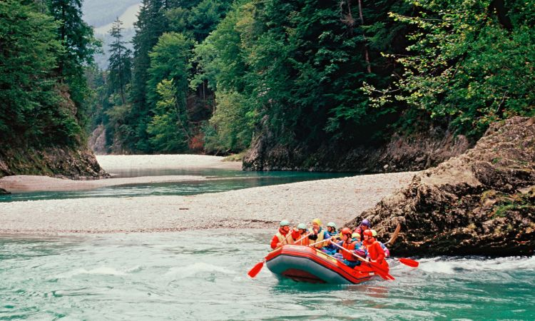 Rafting on the Tyrolean Ache