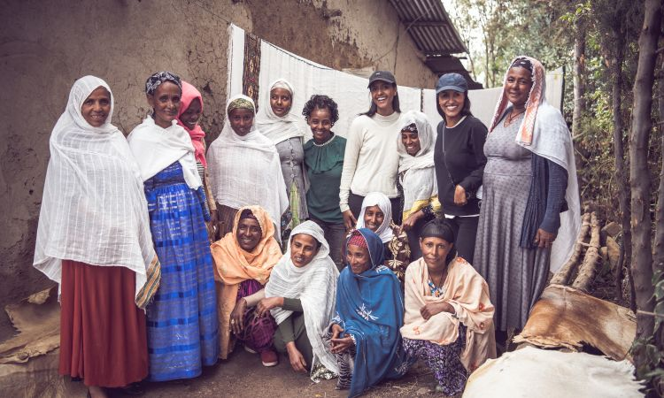 It provides women in Ethiopia with business support.