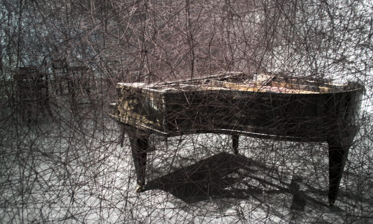 In Silence by Chiharu Shiota