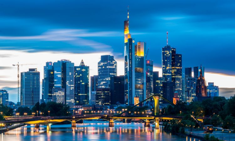 The skyline of Frankfurt am Main