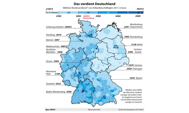 Pay Scale In Germany National Average And Regional Differences