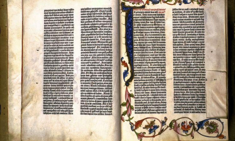 Gutenberg Bible of 1455 from the workshop of Johannes Gutenberg