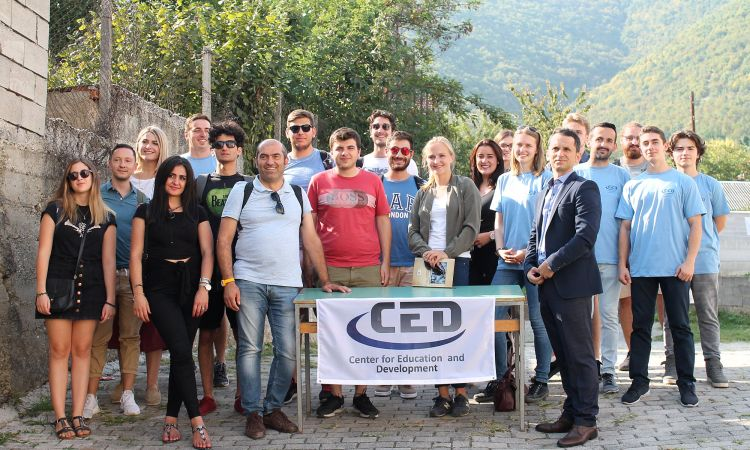 Greek students in Tearce, North Macedonia, with the Center for Education and Development (CED), a local partner