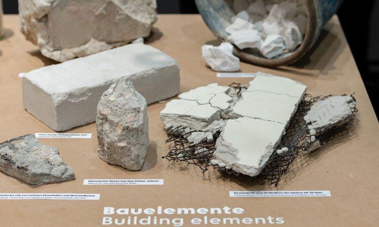 "Construction elements of the ""White City"" – samples taken of the concrete, limestone and ceiling plaster"