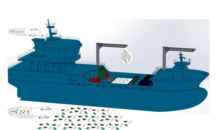 "On board the ""SeeElefant"" vast amounts of plastic waste can be converted into heating oil"