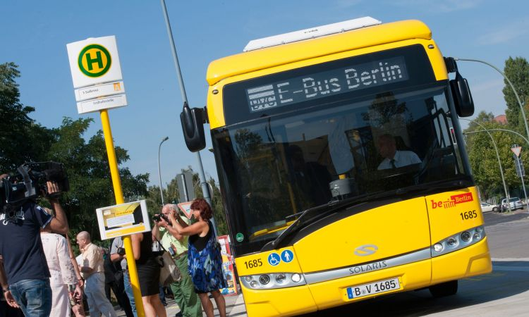 E-bus operated by the Berlin transport authorities
